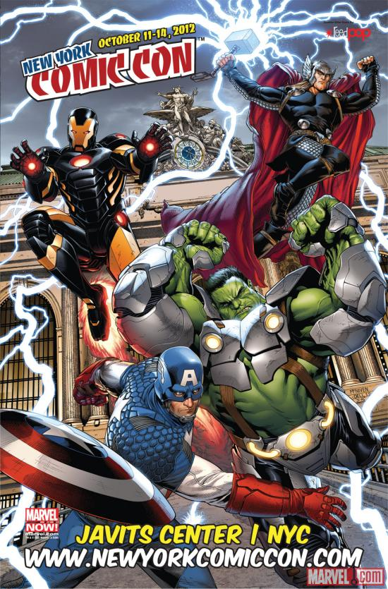 New York Comic Con 2012 poster by Steve McNiven