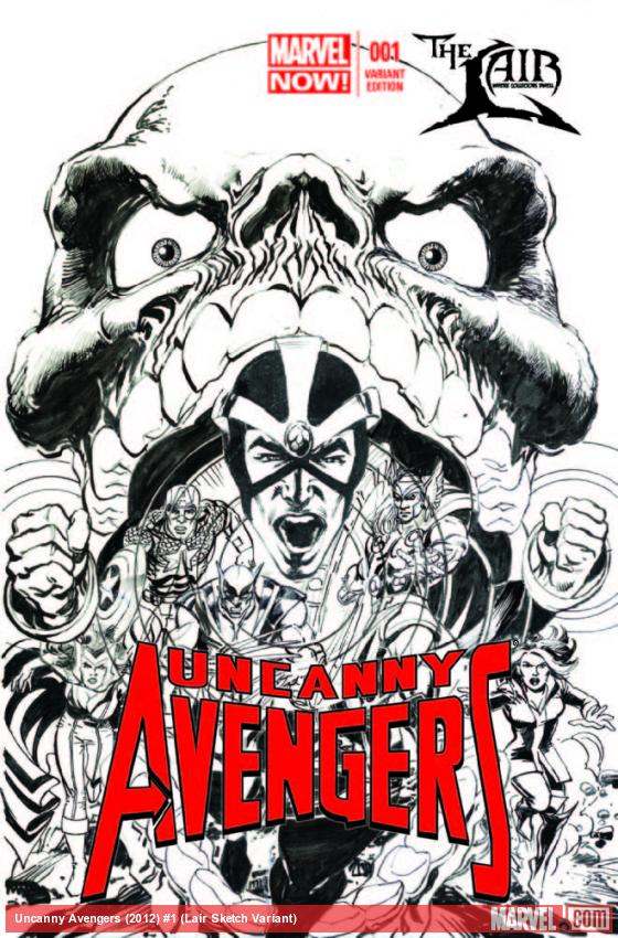 UNCANNY AVENGERS 1 LAIR SKETCH VARIANT (NOW, WITH DIGITAL CODE)