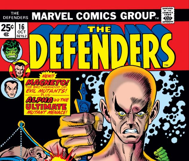 Defenders (1972) #16 Cover