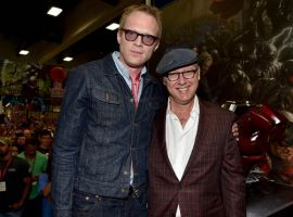 Marvel's Avengers: Age of Ultron stars Paul Bettany and James Spader at the Marvel booth