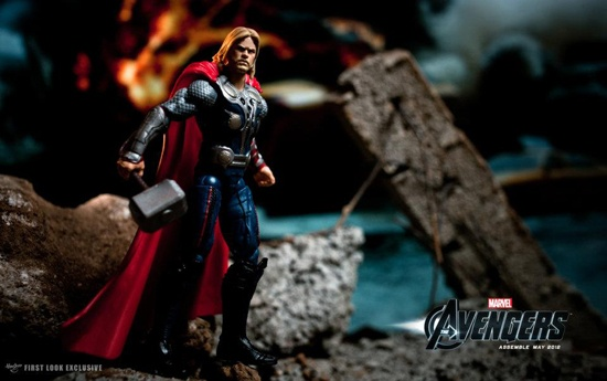 Marvel's The Avengers' Thor action figure from the Hasbro collection