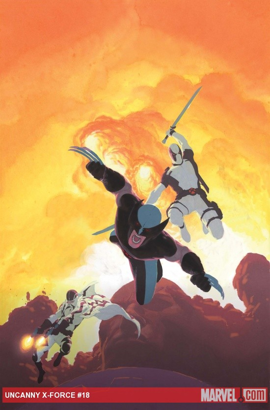 Uncanny X-Force #18 cover by Esad Ribic