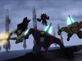 The Guardians of the Galaxy join forces with Earth's Mightiest Heroes in Marvel's Avengers Assemble