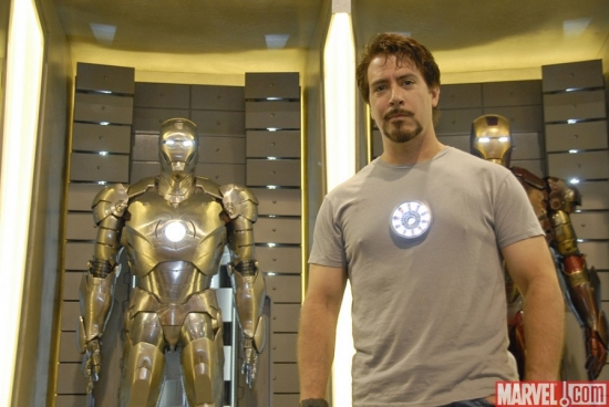 Tony Stark at the Marvel Costume Contest