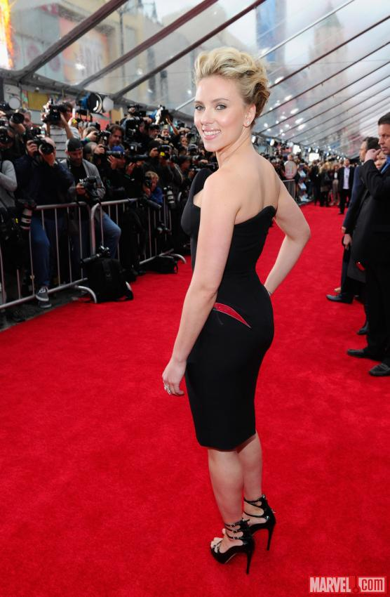 Scarlett Johansson on Avengers red carpet