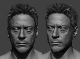 Robert Downey Jr. 3D model by Frank Tzeng