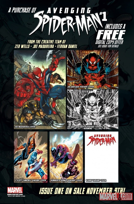 Avenging Spider-Man #1 Promo