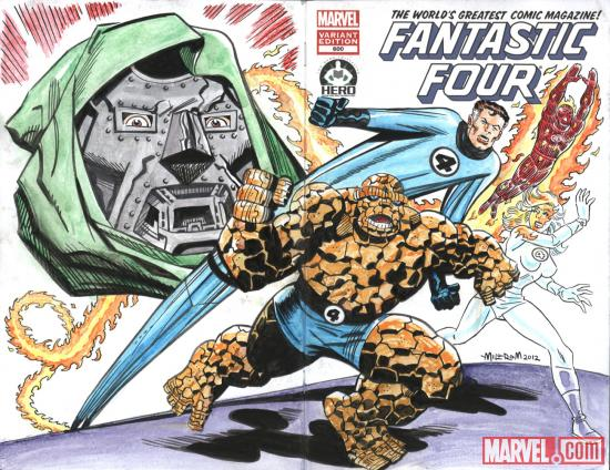 Fantastic Four #600 Hero Initiative variant cover by Al Milgrom  