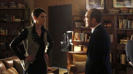 Cobie Smulders & Clark Gregg meet once more as Maria Hill and Phil Coulson in Marvel's Agents of S.H.I.E.L.D.