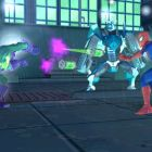 The Prowler assists Spider-Man with a projectile attack.