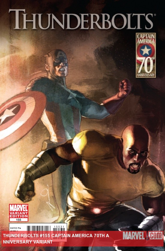 THUNDERBOLTS #155 Captain America 70th Anniversary variant cover by Gerald Parel