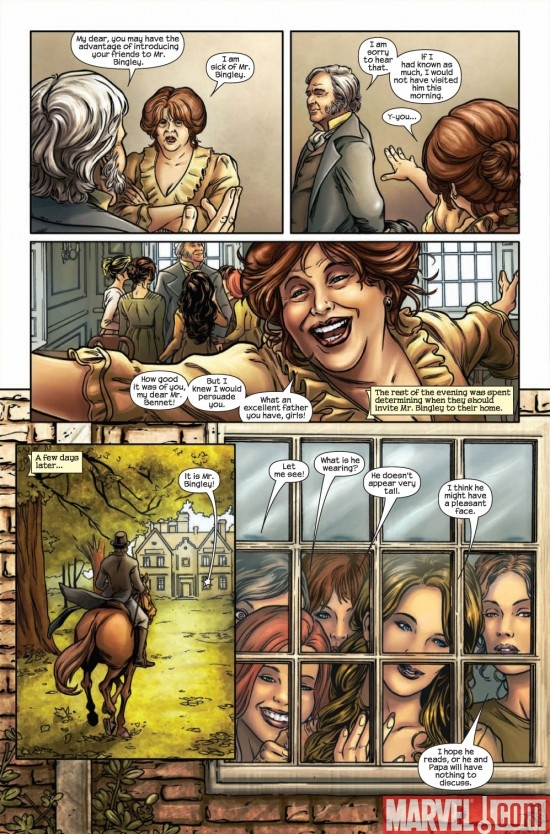 PRIDE & PREJUDICE #1 preview page 5