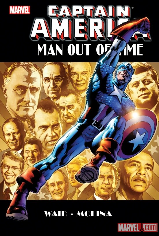CAPTAIN AMERICA: MAN OUT OF TIME PREMIERE HC cover by Bryan Hitch