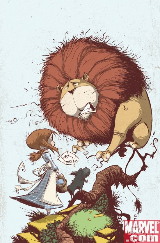 THE WONDERFUL WIZARD OF OZ #2 cover by Skottie Young
