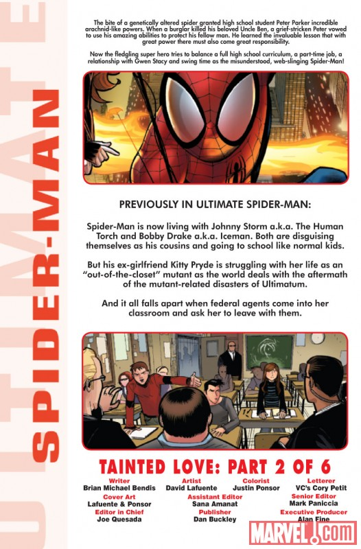 ULTIMATE COMICS SPIDER-MAN #10 recap page