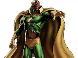 Vision character model from Marvel: Avengers Alliance