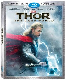 Marvel's Thor: The Dark World Blu-ray 3D Combo Pack package art
