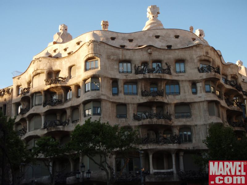 The world-famous Casa Milà by architect Antoni Gaudي
