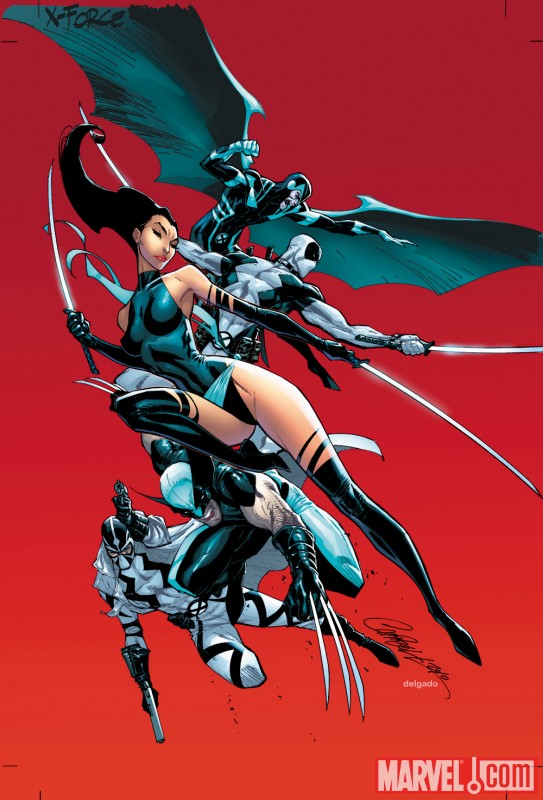 Image Featuring Archangel, Deadpool, Fantomex, Psylocke, Wolverine