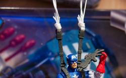 Captain America Action Figure with Parachute from Hasbro at Toy Fair 2011