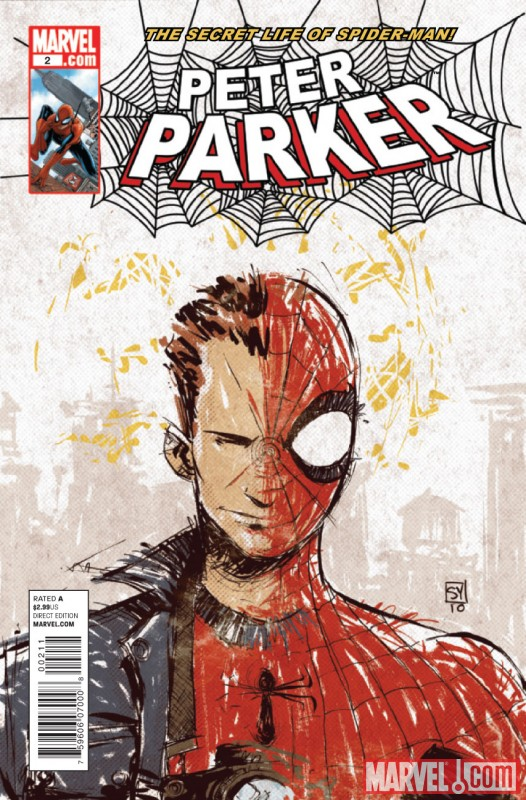 PETER PARKER #2 cover by Skottie Young