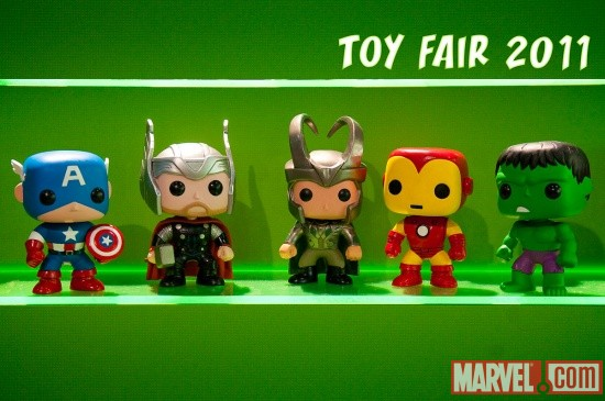 Teaser of Funko's Pop! Marvel Bobble Heads at Toy Fair 2011