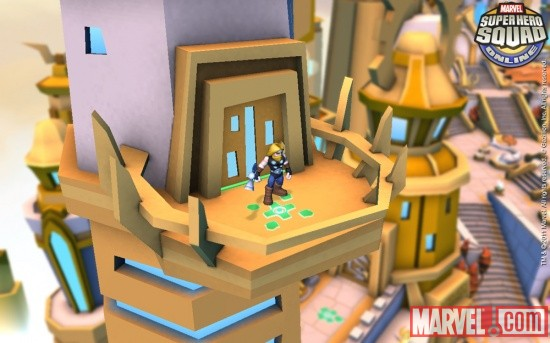 Screenshot of Ultimate Thor from Super Hero Squad Online