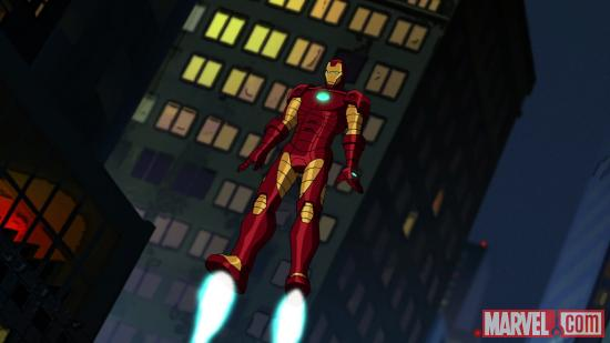 Iron Man takes flight in Ultimate Spider-Man