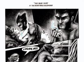 Nick Gurewitch's Wolverine story from the STRANGE TALES collection