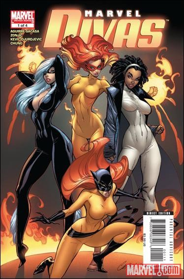 Image Featuring Black Cat, Firestar, Hellcat (Patsy Walker)
