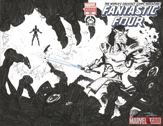 Fantastic Four #600 Hero Initiative variant cover by Ron Chan
