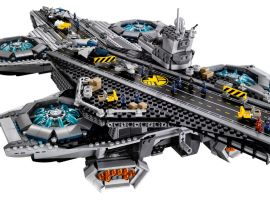 The S.H.I.E.L.D. Helicarrier set by LEGO