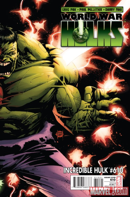 NCREDIBLE HULK #610 cover by Adam Kubert