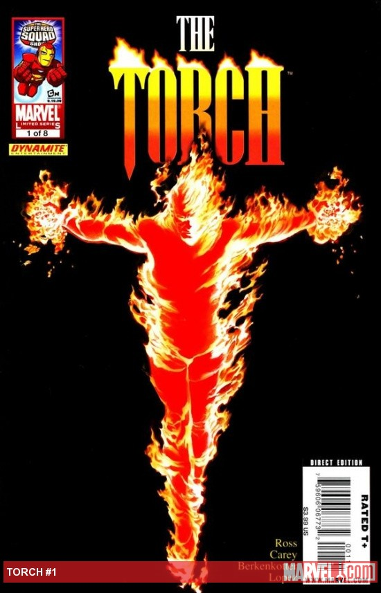 The Torch #1 cover by Alex Ross
