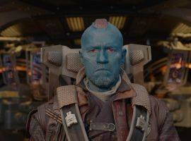 Michael Rooker gets ready to take off as Yondu in Marvel's Guardians of the Galaxy