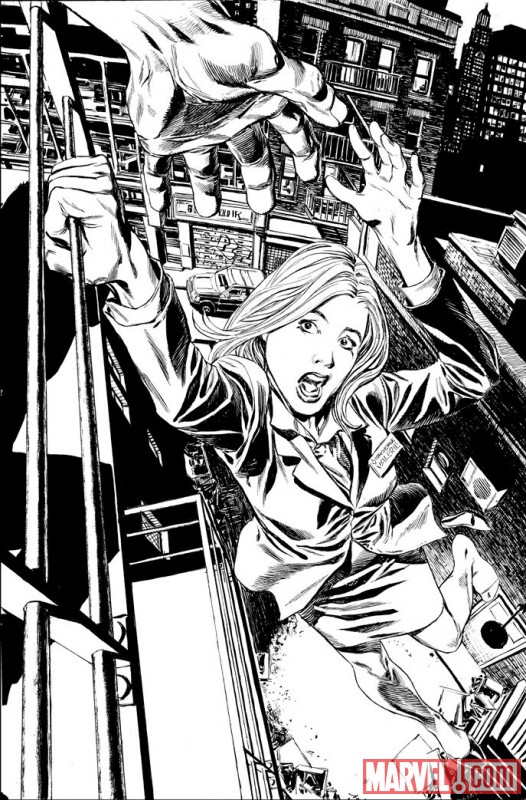 VALKYRIE #1 black and white preview art by Phil Winslade 1