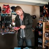 Chris Hemsworth checks out some Thor comics