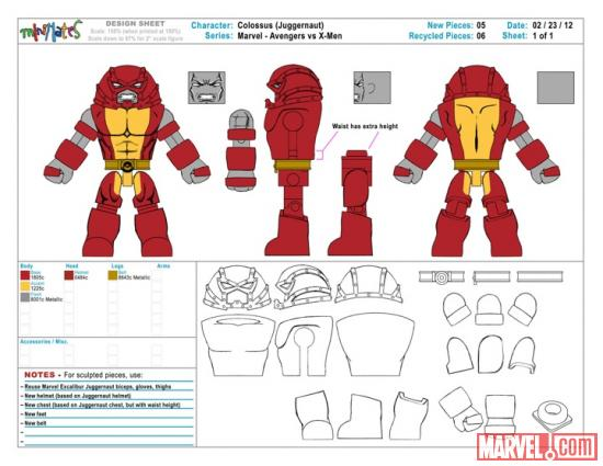 Diamond Select Toys Colossus Concept Art
