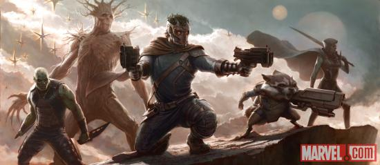 First Guardians of the Galaxy concept art by Charlie Wen