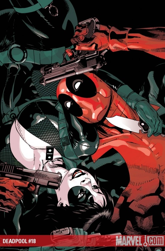 Cover art for DEADPOOL #18 by Jason Pearson