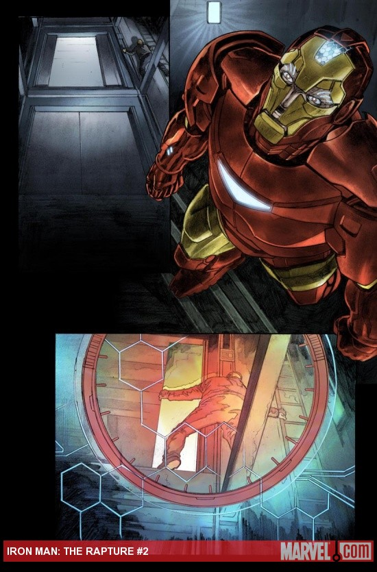 Iron Man: The Rapture #2 preview art by Tim Bradsteet