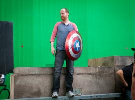 """Director Joss Whedon behind the scenes of """"Marvel's the Avengers"""""""