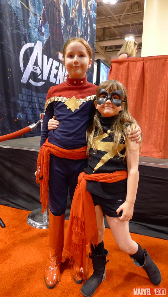 Ms. Marvel and Captain Marvel cosplayers at Fan Expo 2012