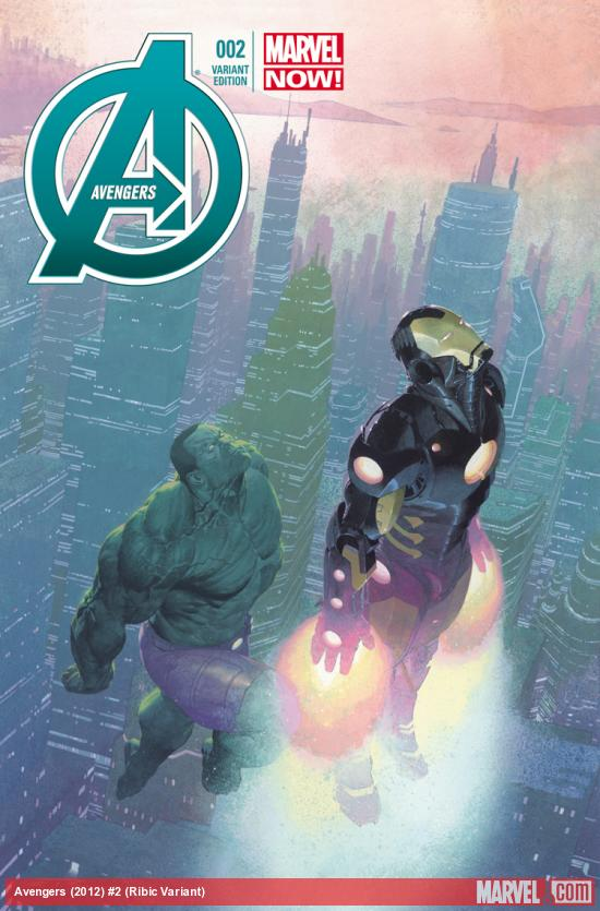 cover from Avengers (2012) #2 (RIBIC VARIANT)
