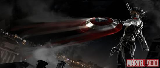 An early look at the Winter Soldier in Marvel's Captain America: The Winter Soldier concept art by Ryan Meinerding