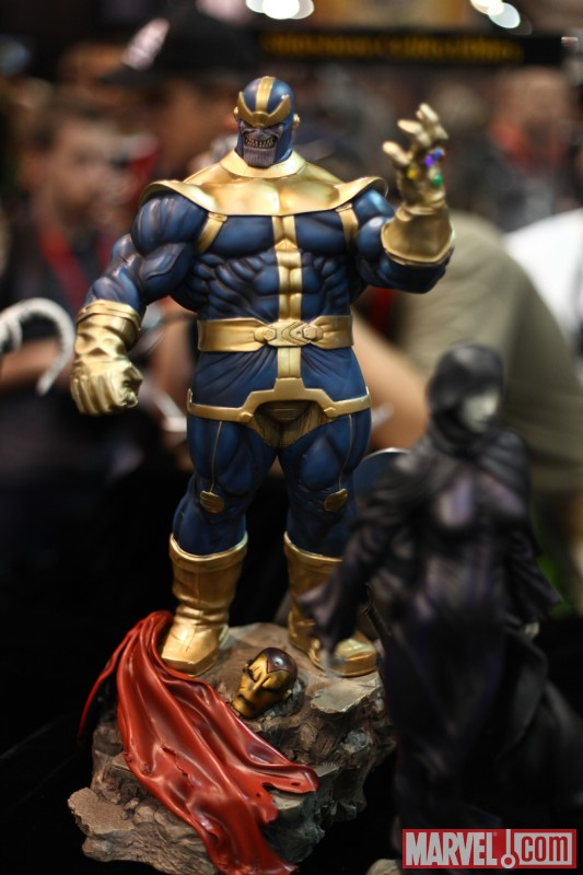 Thanos and Death statue from Sideshow Collectibles