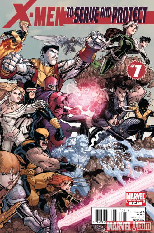 Image Featuring Archangel, Cannonball, Colossus, Cyclops, Emma Frost, Iceman, Magneto, Rogue