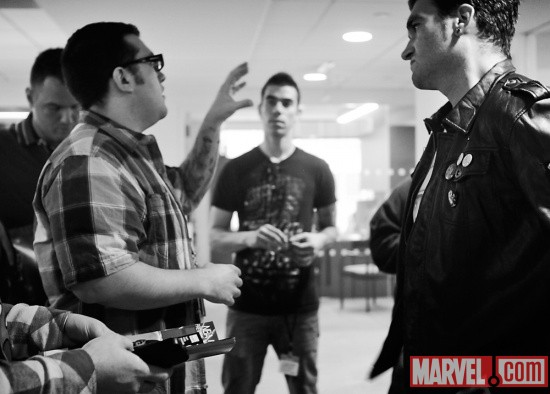 Agent M with New Found Glory at Marvel HQ in NYC