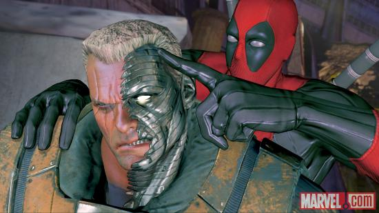 Deadpool teams up with Cable in the Deadpool videogame