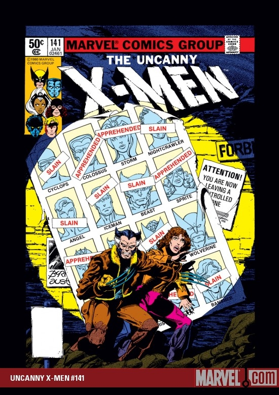 Uncanny X-Men #141 cover by John Byrne